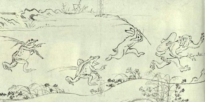 鳥獣戯画の極意:日本人好みの「擬人化」