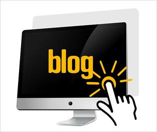 PC画面、ブログをクリックする