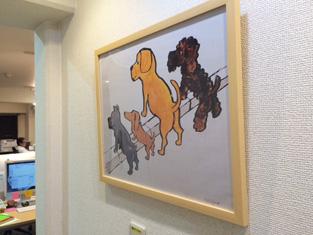 廊下の癒し「サヴィニャック」のイラスト